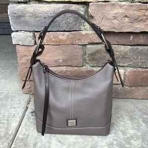 Dooney and Bourke Gray Pebble Leather Hobo Purse